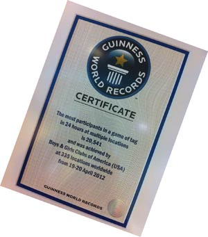 Tag – We're It! Boys & Girls Clubs Sets Guinness World